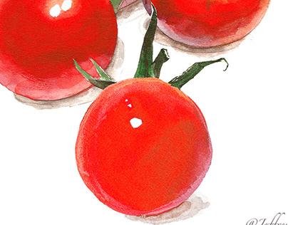 watercolor food