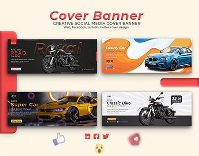 Creative Facebook Cover banner design.