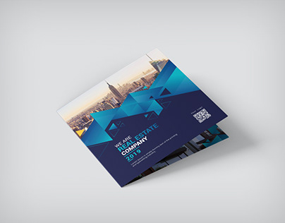 Square Brochure 21x21 Bifold Indesign Template