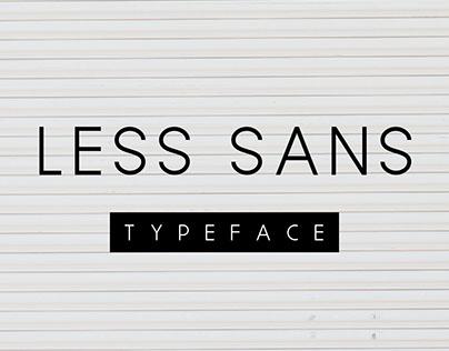 Less Sans Minimal Typeface - Free Download