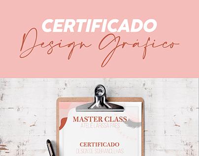 Certificado | Criação e Diagramação