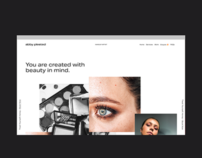 Abby Plested Makeup Artist Squarespace Website