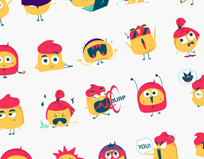 Jian & Family iMessage Animated Stickers