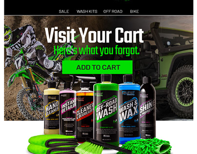 Email Design Car Wash Product