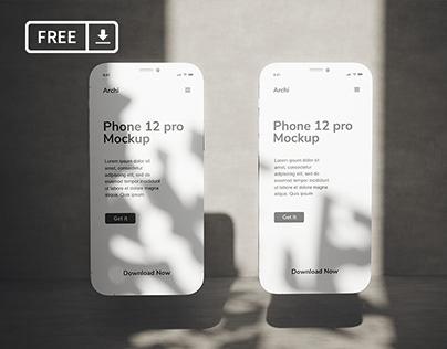 iPhone 12 pro clay stylish mockup