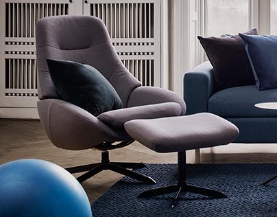 SAGA - armchair and footstool