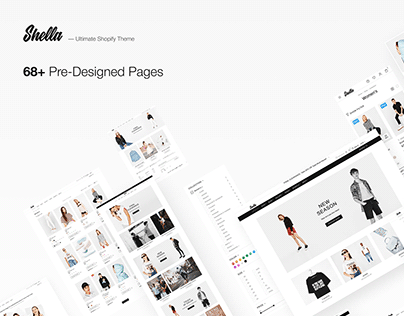 Shella - shop, store, eCommerce theme (Fontes gratuita)