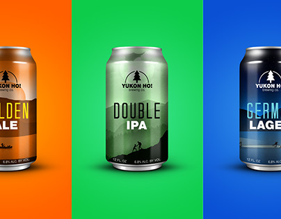 Yukon Ho! Beer Can Design