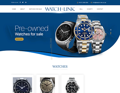Watch-link.co.uk - E-commerce Website