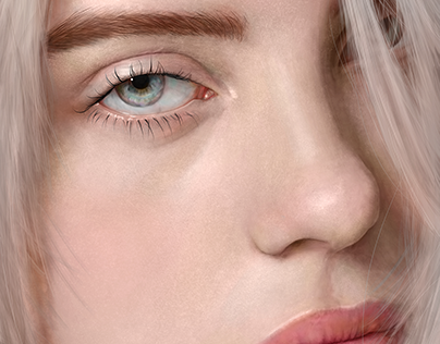 Digital Painting/ Billie Eilish's portrait study