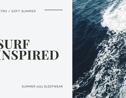 Surf Inspired Sleepwear - MoodBoard