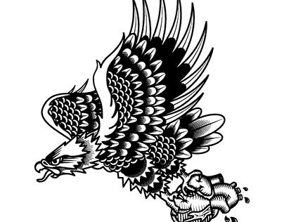 Old school traditional tattoo illustration