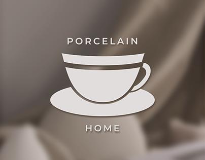 Porcelain Home   logo and branding identity