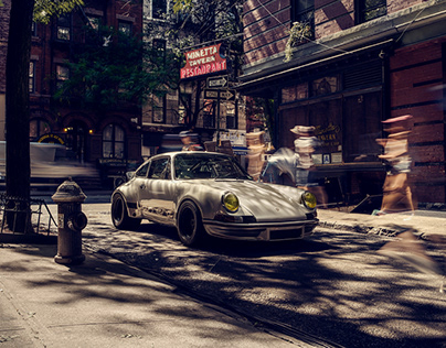 Porsche 911 in NYC shot by Tony harmer