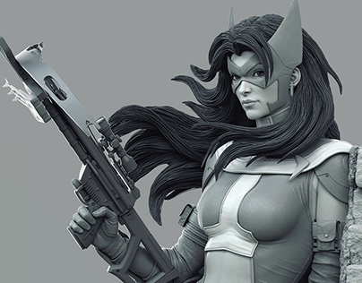 Huntress sculpt 2016
