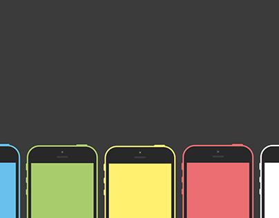 Flat iPhone 5C Mockup