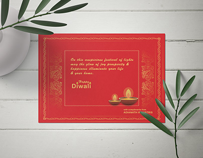 Beautiful Diwali Greetings Card
