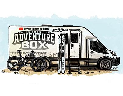 Adventure box Van stickers