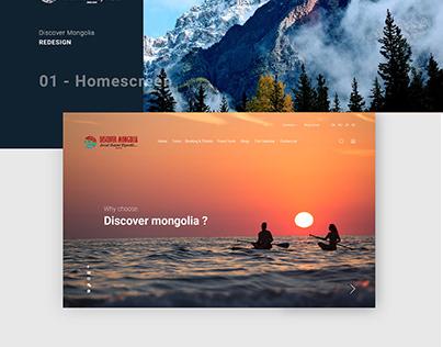 Discover Mongolia | Redesign