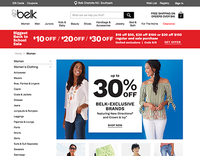 Belk.com - Style Guide, Spec Guide, Wire Frames, Comps.