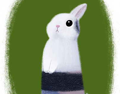 Illustration - Bunny, based on an image from Internet.