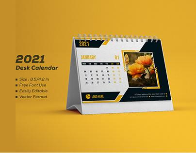 Calendar Design 2021 Desk Calendar design