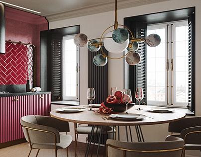 Color apartment in Saint Petersburg