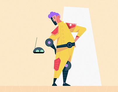 Clean Vector Character Design Illustration