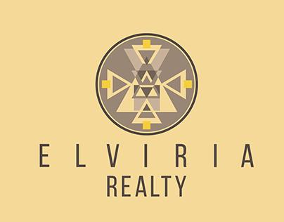 """Logo design for a property business """"Elviria Realty"""""""
