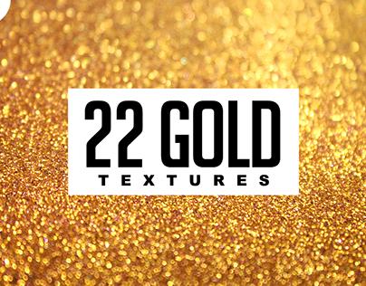 22 GOLD GLITTERS Premium Textures