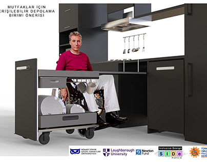 Accessible Storage Unit For Kitchens