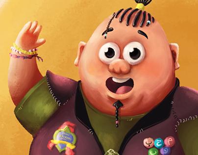 """"""" El Ma7bob's """" Character illustration"""