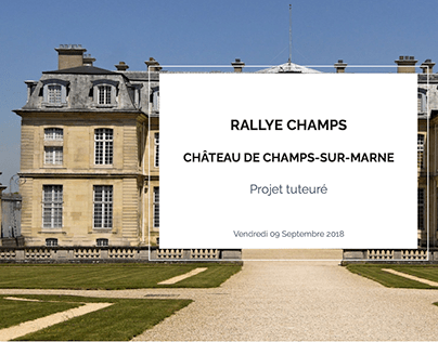 RALLYE CHAMPS - Application iOS & android
