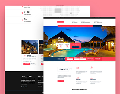 Hotel booking System Landing Page