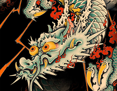 dragon UKIYOE