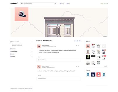 social network - ux design