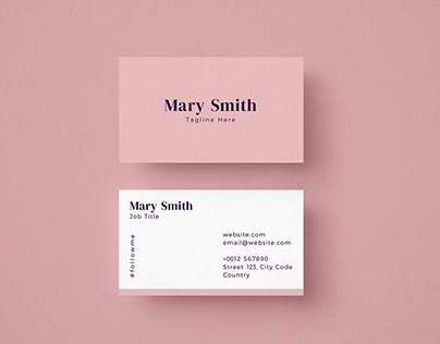Free Pink & Classic Business Card Template