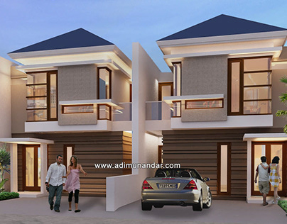 Desain Arsitektur Town House Jojoran Surabaya
