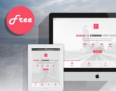 Daran - Free Coming Soon PSD Template