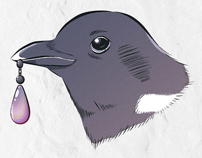 The Mystic Magpie Logo Design & Illustration