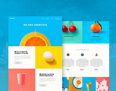 Landing Page Design / UI/UX Design Prototype