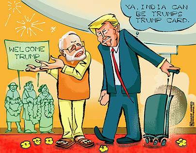 "Cartoons for News stand "" Extra!Insight "" ,India"