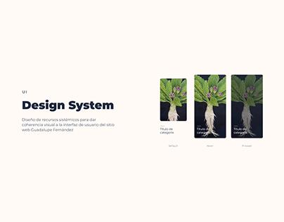 UI - Design System - Art Website