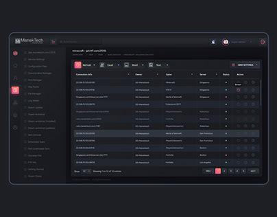 Super Admin Web Panel Dashboard Dark Design