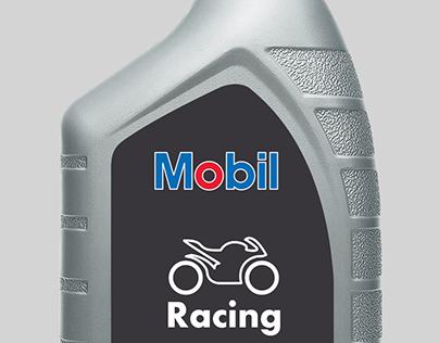 Mobil motorsykkelolje | Emballasjedesign