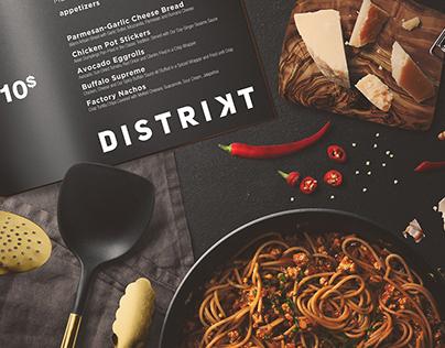 DISTRIKT street food bar identity and logo