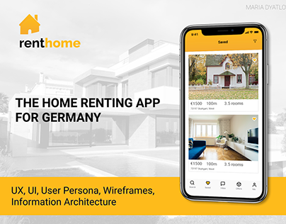 RentHome: the home renting app for Germany