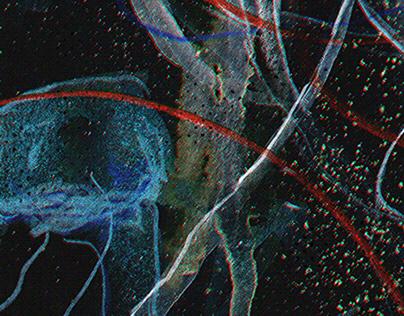 Lowlight Medusa / Mixed media illustration