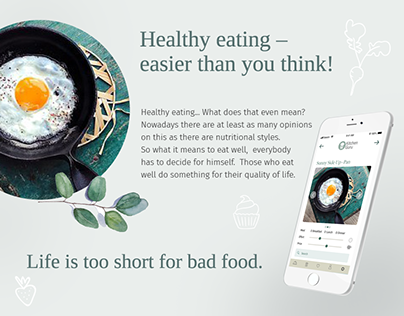 Recipe app for high-quality nutrition that takes into a