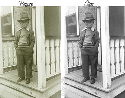 Restoration of 1930s Film Negative Photo